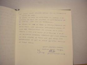 Libro de visitas Josep Vendrell