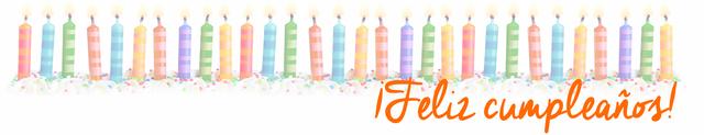 Cabecera velitas + feliz cumpleaños