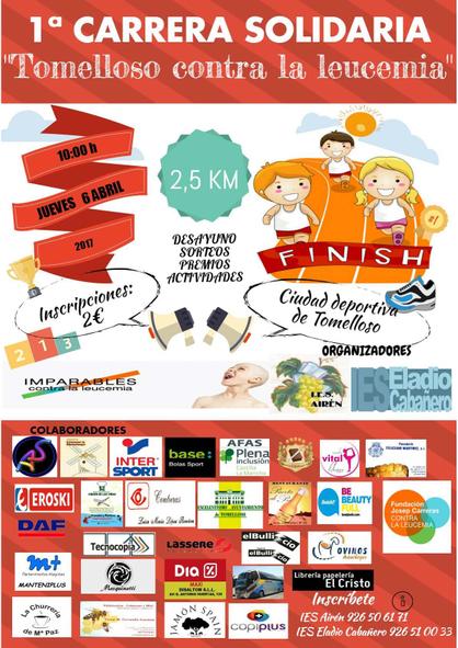 Cartel Carrera Solidaria contra la leucèmia
