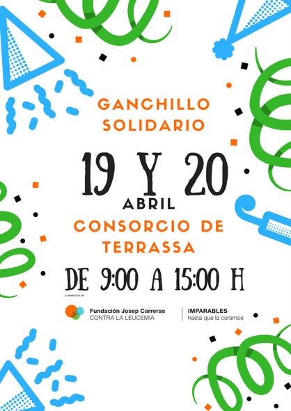 cartel ganchillo solidario