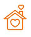 icono casa naranja