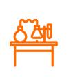 icono lab medicamentos naranja