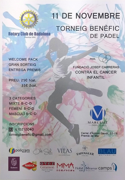 CARTEL TORNEO ROTARY PADEL