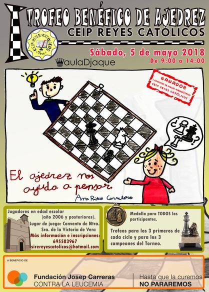 Cartel Torneo benéfico Ajedrez Vera
