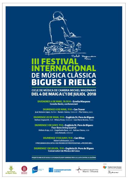 Cartell III Festival Música Clàssica