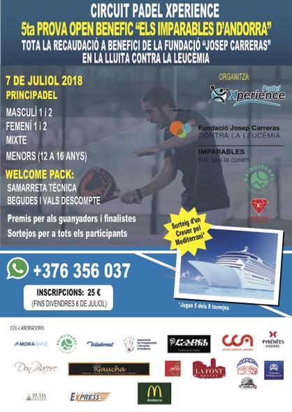 Cartel torneo padel Andorra