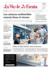 """Artículo sobre la Semana contra la Leucemia 2012 en el diario """"La Voz de A Coruña"""""""