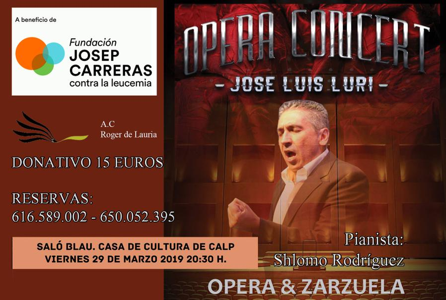 Cartel concierto lírico Calpe
