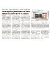 """Artículo sobre la colocación de la Primera Piedra del Instituto de Investigación contra la Leucemia Josep Carreras en """"Diario Médico"""""""