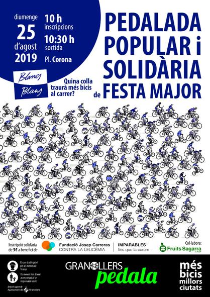 Cartell pedalada solidària Granollers Pedala