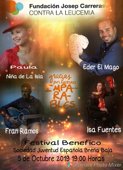 Cartell festival benèfic Breña Baja