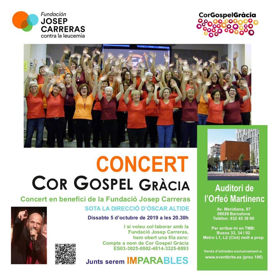 Cartell concert gospel gracia