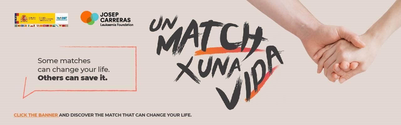 Banner Un match x una vida ANG