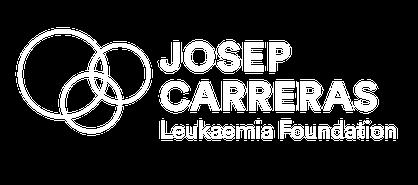 Logo blanco inglés Fundación Josep Carreras