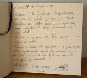Jessica López's husband visit booklet