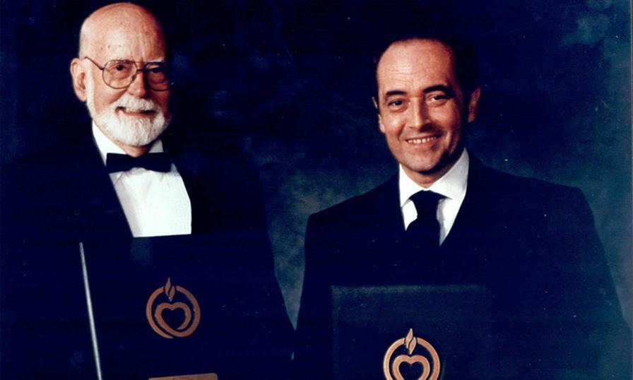 Prof. E Donall Thomas y Josep Carreras