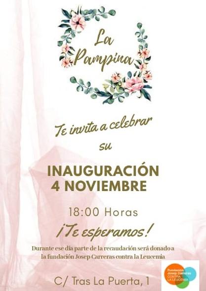 Cartel Inauguración La Pampina