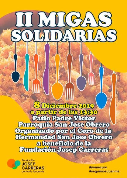 Cartell Migas Solidarias Juanma 2019