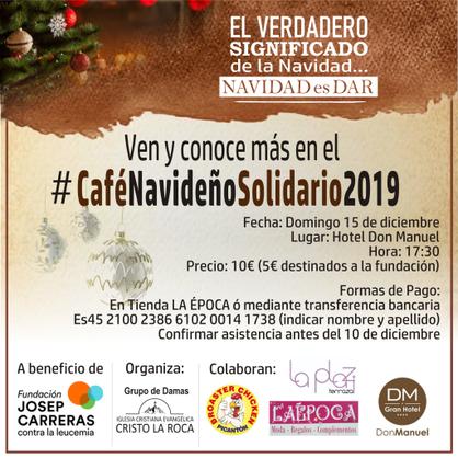 Cartell merienda solidaria Cáceres