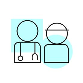 icono paciente y médico