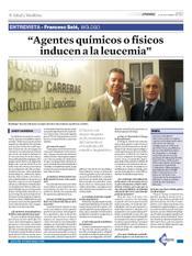 Entrevista de Josep Carreras al Dr. Francesc Solé, investigador del Instituto de Investigación contra la Leucemia Josep Carreras