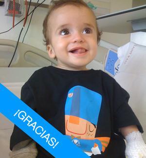Leo, paciente de Síndrome de Inmunodeficiencia Combinada Severa