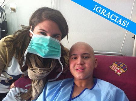 Pedro, paciente de leucemia