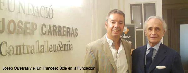 Josep Carreras y el Dr. Francesc Sole