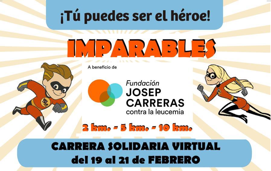 Carrera solidaria virtual IMPARABLES contra la leucemia