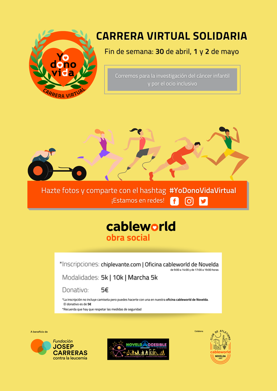 Carrera solidaria de Cableworld | Online