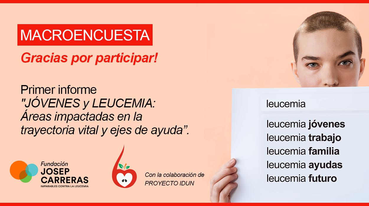 Banner leucemia y jóvenes registro acceso a macroencuesta