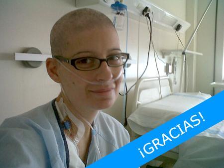 Alicia, ex-paciente de leucemia