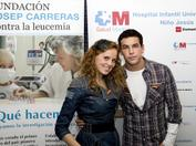 María Castro y Mario Casas durante nuestra campaña de sensibilización de 2011
