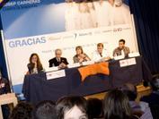 Rodrigo, ex-paciente de leucemia durante la presentación de la campaña de sensibilización de 2011 en el Hospital Niño Jesús de Madrid