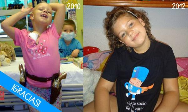 María, ex-paciente de leucemia mieloide aguda
