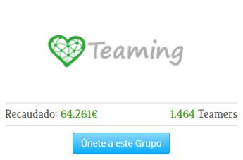 Teaming: ¡con un euro al mes salvas vidas!