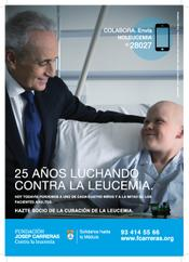 "2013 Press campaign ""25 years fighting against leukaemia"""