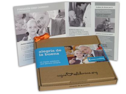 Cajas solidarias Fundación Josep Carreras