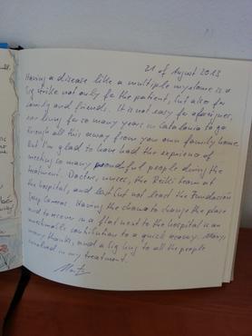 Libro de visitas Martin Theobald