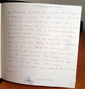 Visitors' book Mª Jesús
