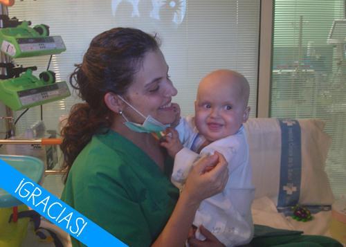 Abril, paciente de leucemia
