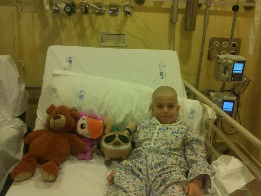 Mario, leukaemia patient