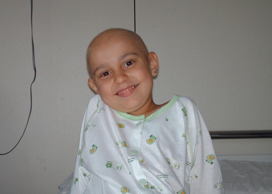 Aina, recién empezado el tratamiento