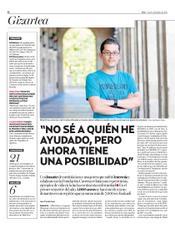 """Reportaje del diario vasco """"Deia"""""""