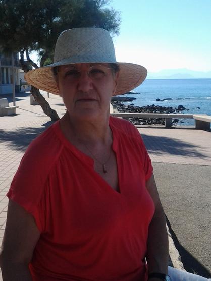 En la playa, seis meses después del trasplante.