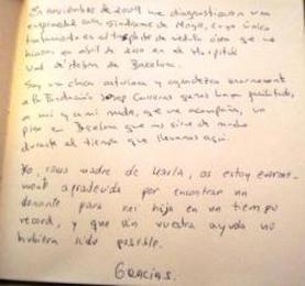 Libro de visitas Marta González