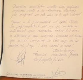 Llibre de visites Víctor Escribano