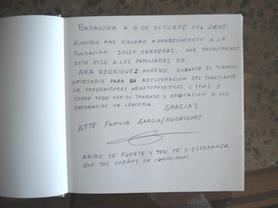 Libro de visitas Ana Moreno