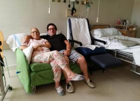 Rosa Maria paciente mieloma trasplante