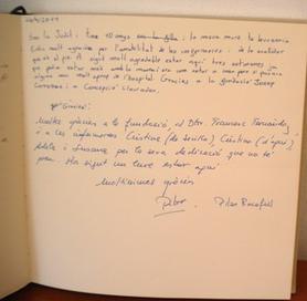 Llibre de visites Pilar Rocafull